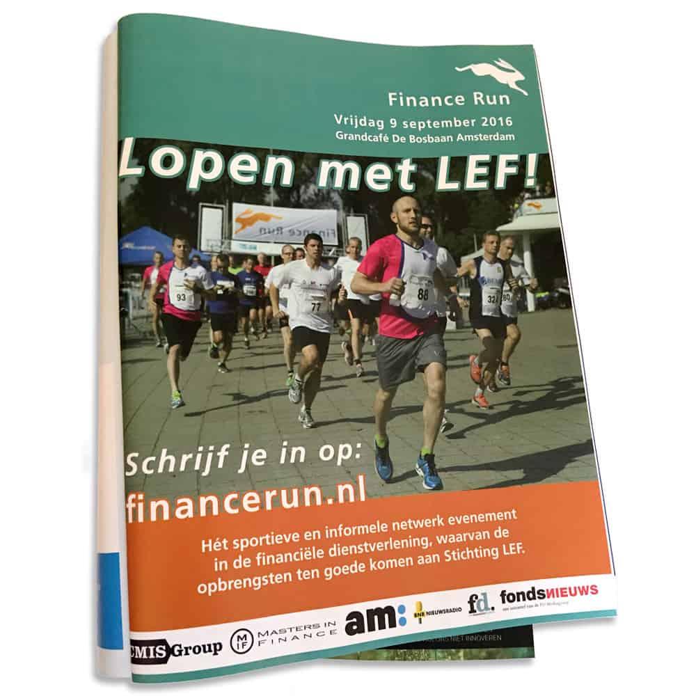 Finance Run advertentie in am: