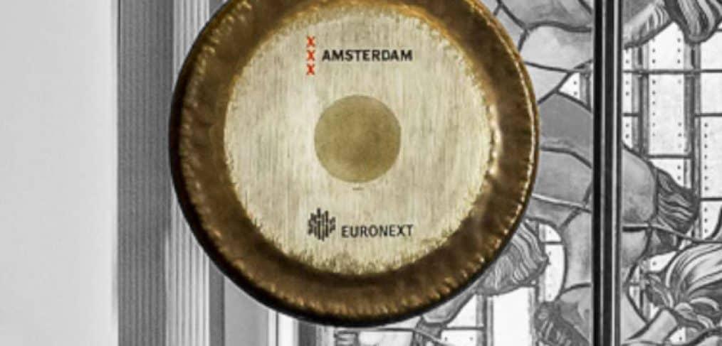 De gong van de Amsterdamse beurs