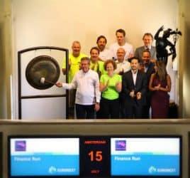 Finance Run opent Amsterdamse beurs